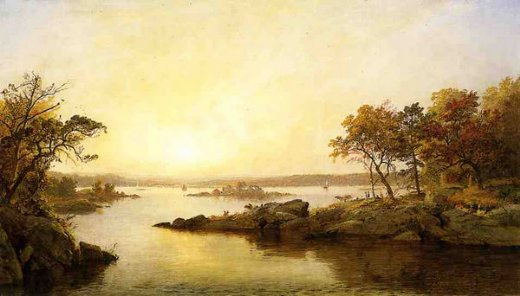 jasper francis cropsey afternoon at greenwood lake painting