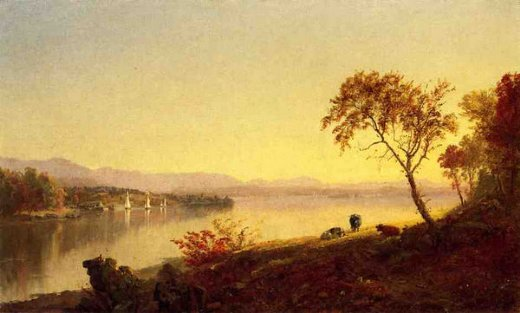 jasper francis cropsey along the river posters
