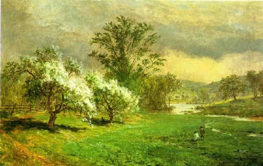 jasper francis cropsey apple blossom time paintings
