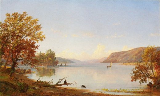 jasper francis cropsey artist sketching on greenwood lake painting