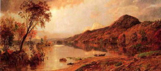 jasper francis cropsey autumn by the lake ii painting