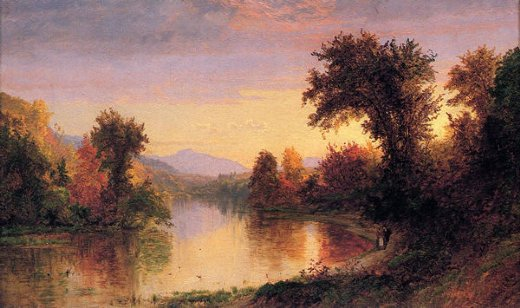 jasper francis cropsey autumn by the river painting