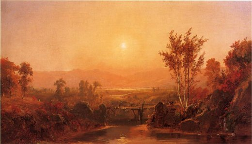 jasper francis cropsey autumn light on the ramapo river painting