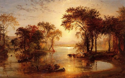 jasper francis cropsey autumn on thw susquehanna paintings
