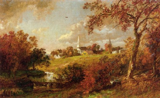 jasper francis cropsey back of the village hastings painting