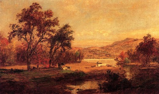jasper francis cropsey by the lake painting