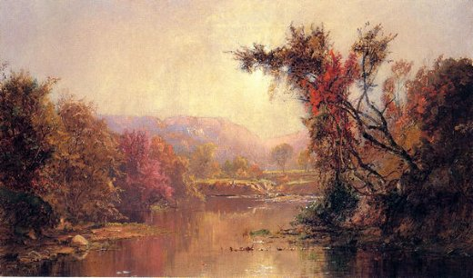 jasper francis cropsey by the river painting