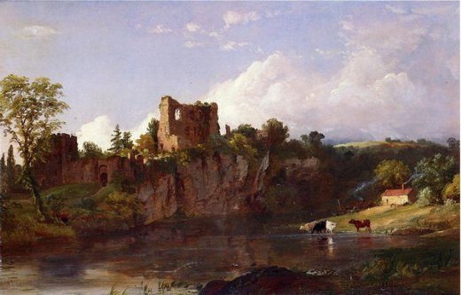 jasper francis cropsey chepstow castle on the wye painting