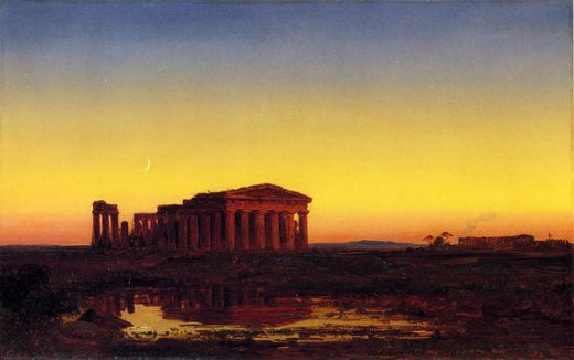 jasper francis cropsey evening at paestum painting