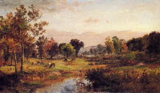 jasper francis cropsey farm along the river painting