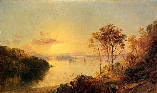 jasper francis cropsey figures on the hudson river paintings