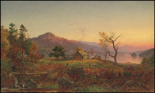 jasper francis cropsey fisherman s house greenwood lake new jersey painting