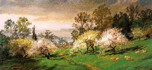 jasper francis cropsey flowering trees painting