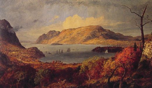 jasper francis cropsey gates of the hudson painting