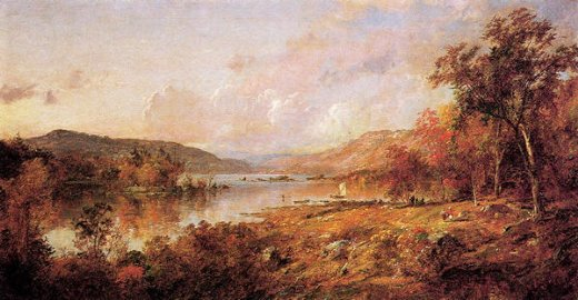 jasper francis cropsey greenwood lake in september painting