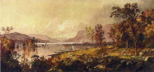 jasper francis cropsey greenwood lake new jersey in september painting