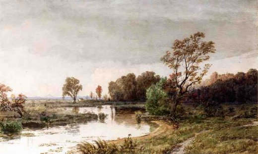 jasper francis cropsey hackensack meadows in the autumn painting