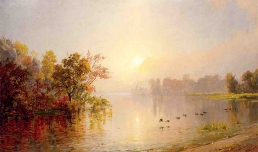 jasper francis cropsey hazy afternoon autumn 1873 painting