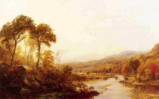 jasper francis cropseyheadwaters of the hudson Painting-31356
