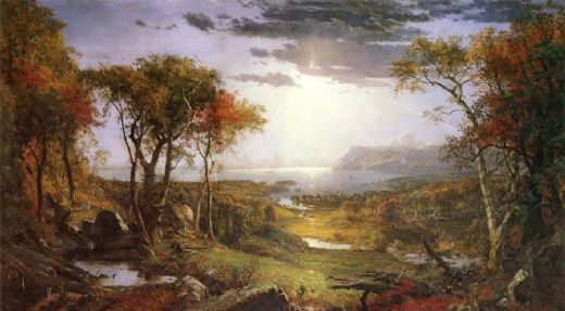 jasper francis cropsey herbst am hudson river painting