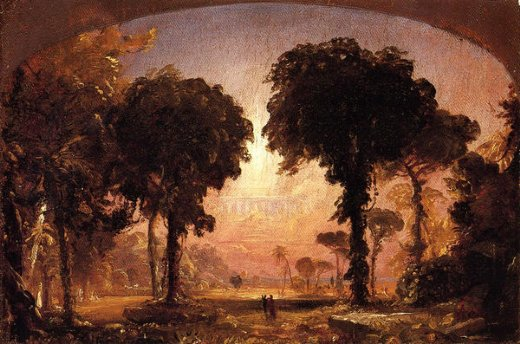 jasper francis cropsey ideal landscape homage to thomas cole painting