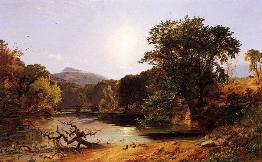 jasper francis cropsey in the white mountains painting
