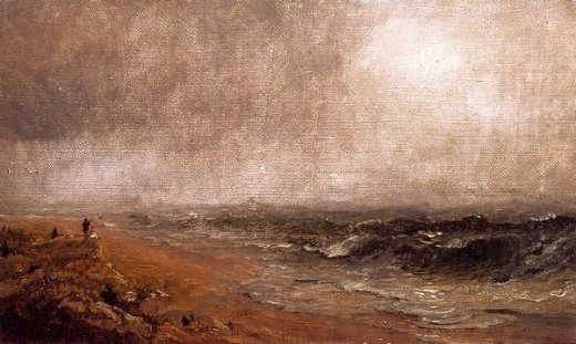 jasper francis cropsey looking out to sea painting