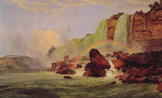 jasper francis cropsey niagara falls with a view of clifton house paintings