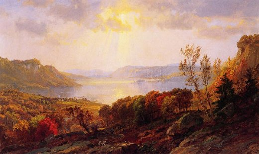 jasper francis cropsey on the hudson near west point posters
