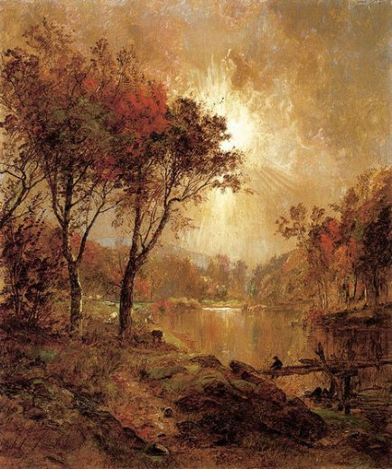 jasper francis cropsey on the ramapo river painting
