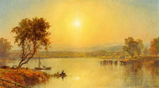 jasper francis cropsey on the susquahana river painting