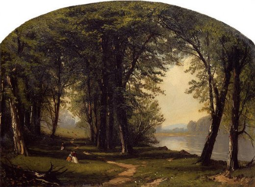 jasper francis cropsey promenade on ring rock painting