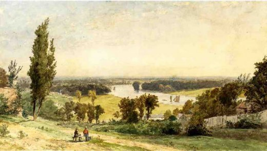 jasper francis cropsey richmond hill in 1862 painting