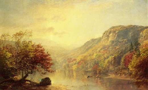 jasper francis cropsey river in autumn painting