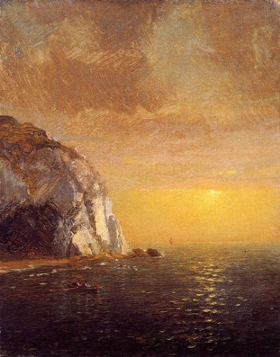 jasper francis cropsey rowing at sunset paintings