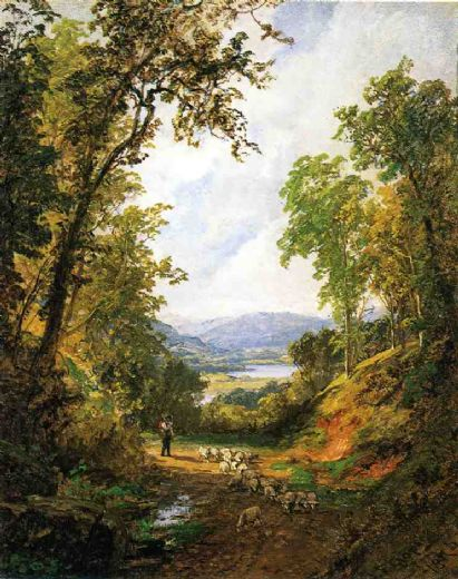 jasper francis cropsey shepherd and flock painting