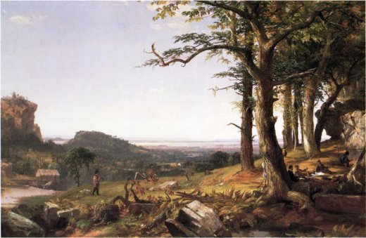 jasper francis cropsey sportsmen nooning paintings