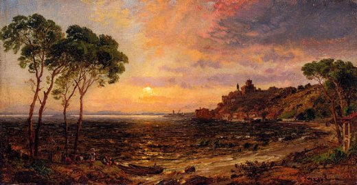 jasper francis cropsey sunset over lake thrasemine prints