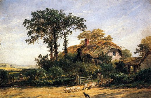 jasper francis cropsey the cottage of the dairyman s daughter painting
