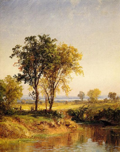 jasper francis cropsey the pond in springtime painting