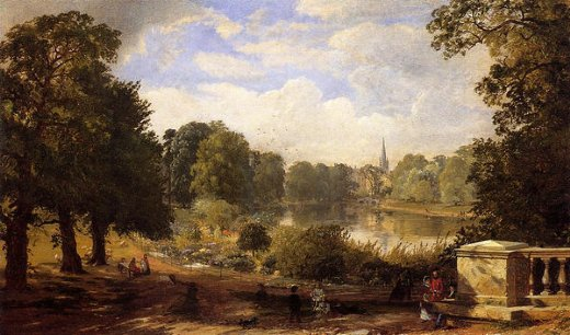 jasper francis cropsey the serptentine hyde park london paintings