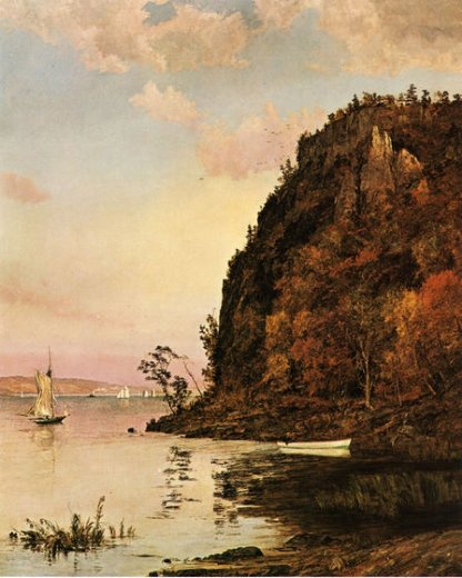 jasper francis cropsey under the palisades in october paintings