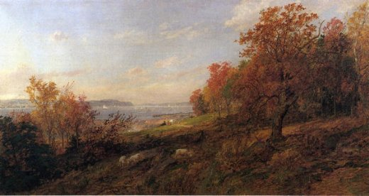 jasper francis cropsey view from hastings toward the tappan zee painting