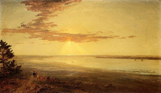 jasper francis cropsey view of the hudson ii painting