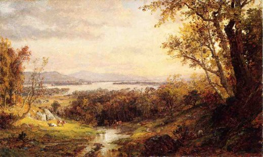 jasper francis cropsey view of the hudson oil painting