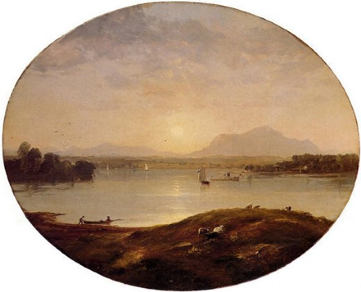 jasper francis cropsey view on the hudson river paintings