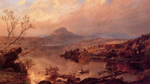 jasper francis cropsey wickham pond and sugar loaf mountain orange county painting