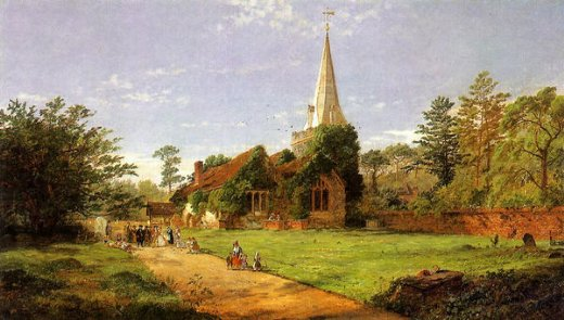 jasper francis cropsey william penn s wedding painting