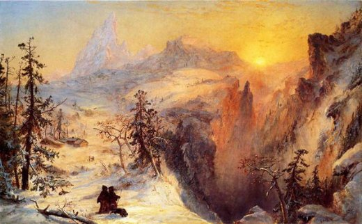 jasper francis cropsey winter in switzerland paintings