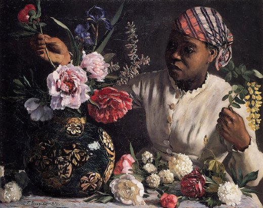 jean frederic bazille african woman with peonies paintings